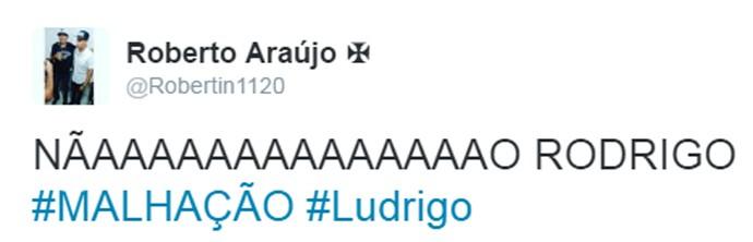 Internauta comenta cena de Ludrigo (Foto: Reprodução)
