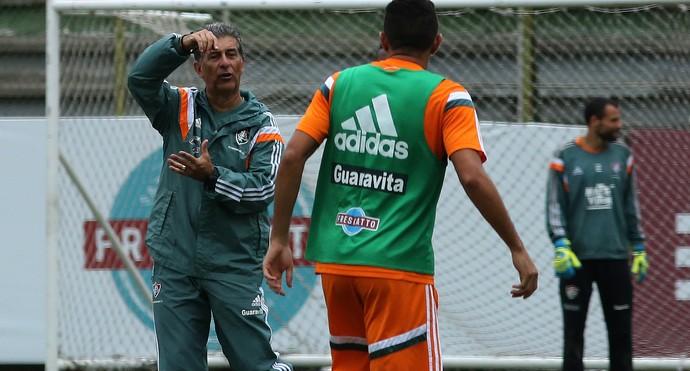 Ricardo Drubscky comanda treino do Fluminense nas Laranjeiras (Foto: Nelson Perez/Fluminense FC)