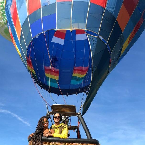 #Jenian passeia de balão em Praia Grande-SC (Foto: Instagram/Reprodução)