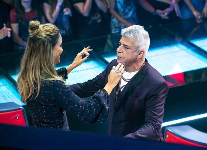 Claudia Leitte recebe o carinho do amigo Lulu Santos (Foto: Isabella Pinheiro/Gshow)
