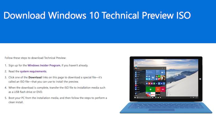 Baixe o Windows 10 no idioma que você quer usar a Cortana (Foto: Reprodução/Helito Bijora)