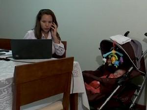 Mães trabalhadoras (Foto: reprodução Globo News)