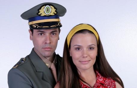 Com Cláudio Lins em 'Amor & revolução', no SBT Lourival Ribeiro/ SBT