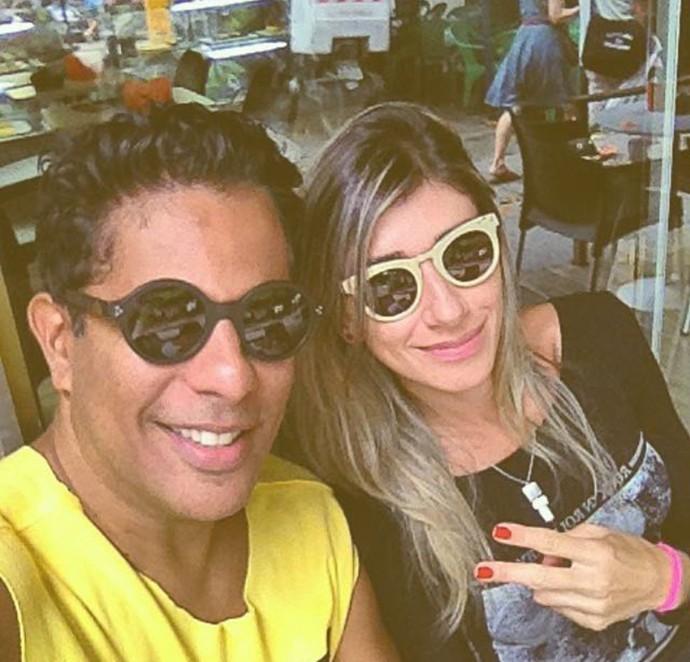 Luka Ribeiro e a esposa (Foto: Arquivo pessoal)