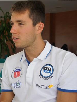 Bruno Matheus, triatleta de Santos (Foto: Pâmella Oliveira / Divulgação)