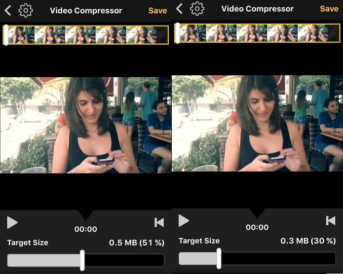 Selecione o tamanho que deseja deixar o seu vídeo antes de enviar (Foto: Reprodução/ Luciana Maline)
