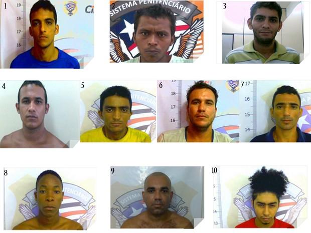 Fugitivos do Presídio São Luís II, no Complexo de Pedrinhas (Foto: Divulgação/Sejap)