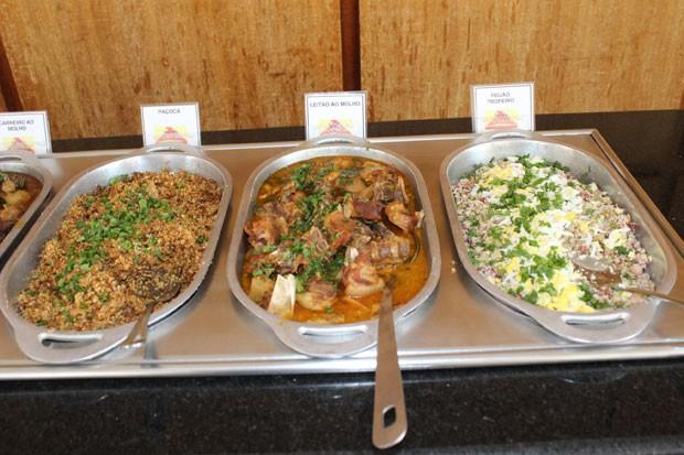 Pratos típicos  da culinária piauiense  (Foto: Gilcilene Araújo/G1)