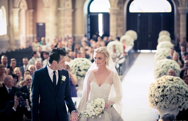 Casamento de Carol Trentini e Fabio Bartelt (Foto: reprodução / Vogue US)