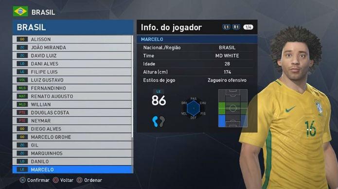 PES 2017: Marcelo está entre os melhores jogadores brasileiros do game (Foto: Reprodução/Thomas Schulze)
