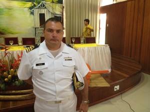 Carlos Neves, Capitão dos Portos do Amapá (Foto: John Pacheco/G1)