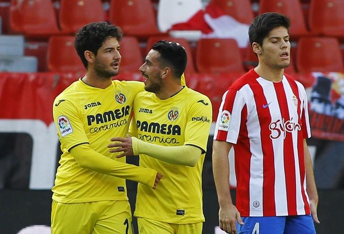 Pato, Sporting Gijon x Villarreal (Foto: EFE)