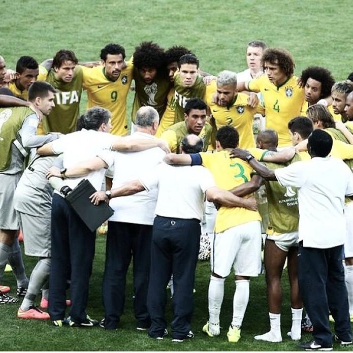 Imagem de jogo contra o Chile foi uma das mais curtidas na rede social (foto: Reprodução/Instagram)