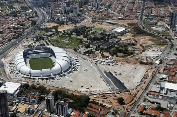 Arena das Dunas, em 22 de janeiro de 2014 (Foto: Sergio Moraes/Reuters)
