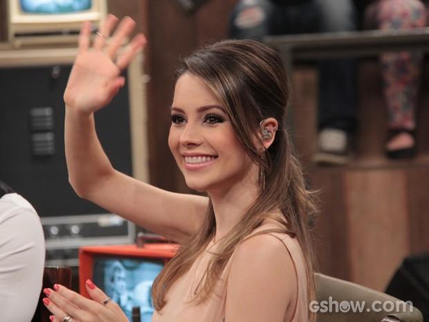 Sandy participa do programa Altas Horas deste sábado (Foto: TV Globo/Altas Horas)