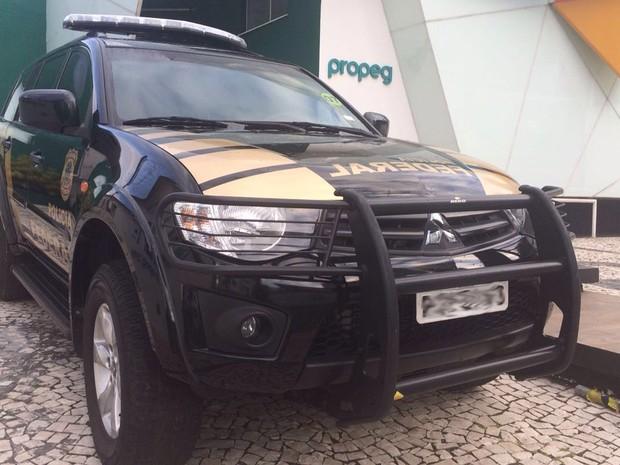 PF também esteve em uma agência de publicidade em Salvador (Foto: Divulgação/Polícia Federal)
