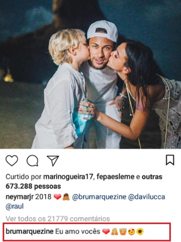 Marquezine comenta foto de Neymar (Foto: Instagram/Reprodução)
