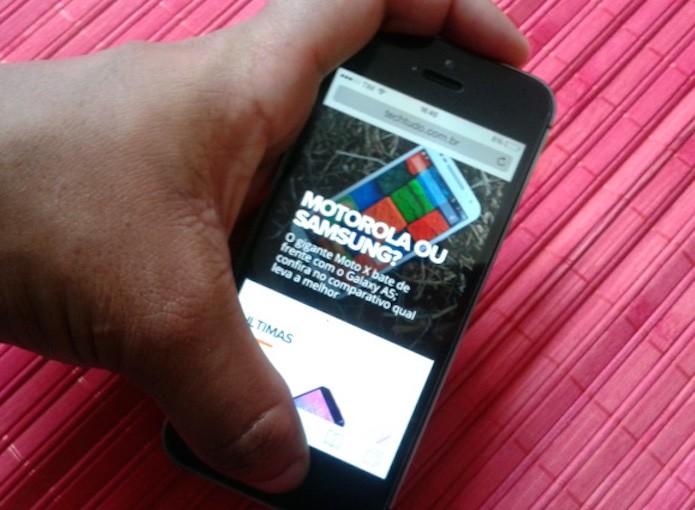 Fazendo um print da tela do iPhone  (Foto: Reprodução/Marvin Costa)