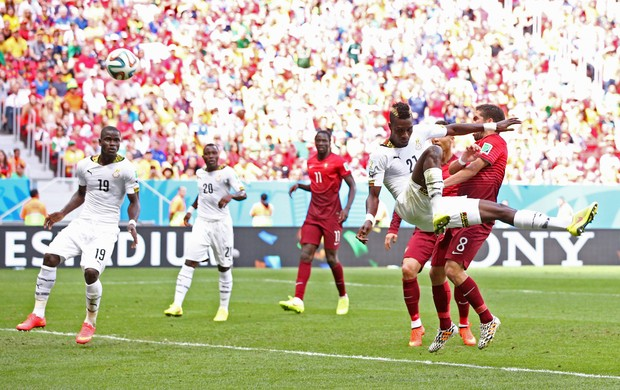 john Boye gol contra portugal x gana (Foto: Getty Images)