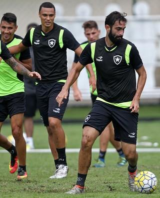 Renan Fonseca, Emerson Silva, Botafogo (Foto: Vitor Silva/SSPress/Botafogo)