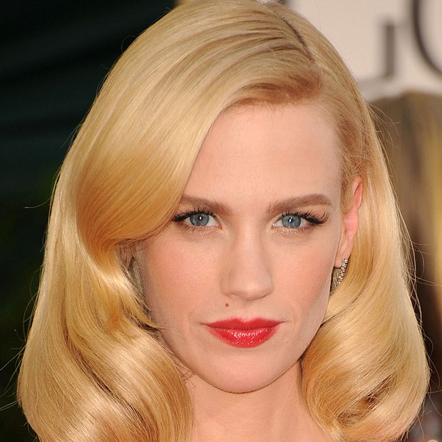 January Jones no Golden Globes 2011 (Foto: Getty Images)