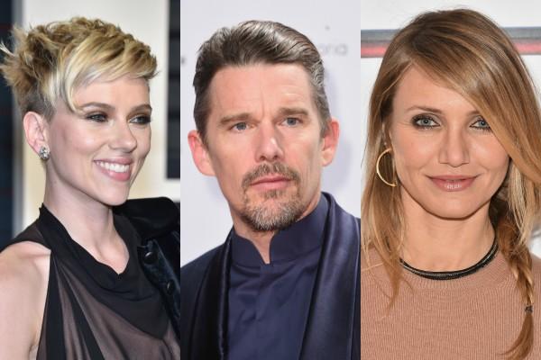Scarlett Johansson, Ethan Hawke e Cameron Diaz (Foto: Getty Images)