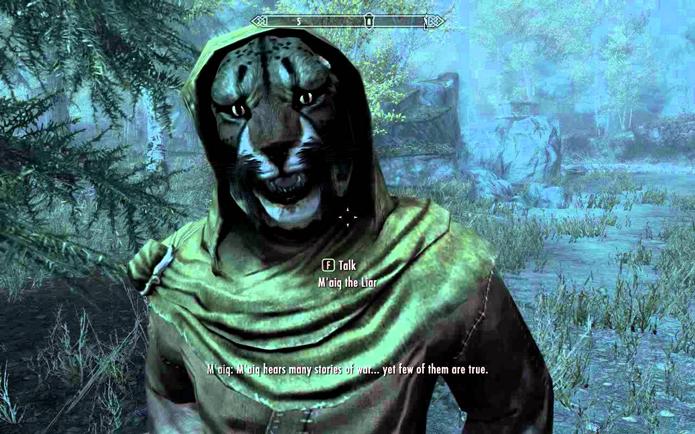 Maiq é personagem recorrente, e misterioso, dos games da série Elder Scrolls (Foto: Reprodução/YouTube)