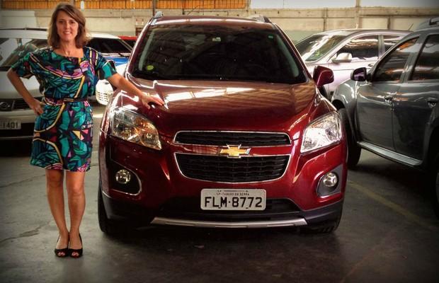 Marina Facirolli é dona de um Chevrolet Tracker (Foto: Aline Magalhães)