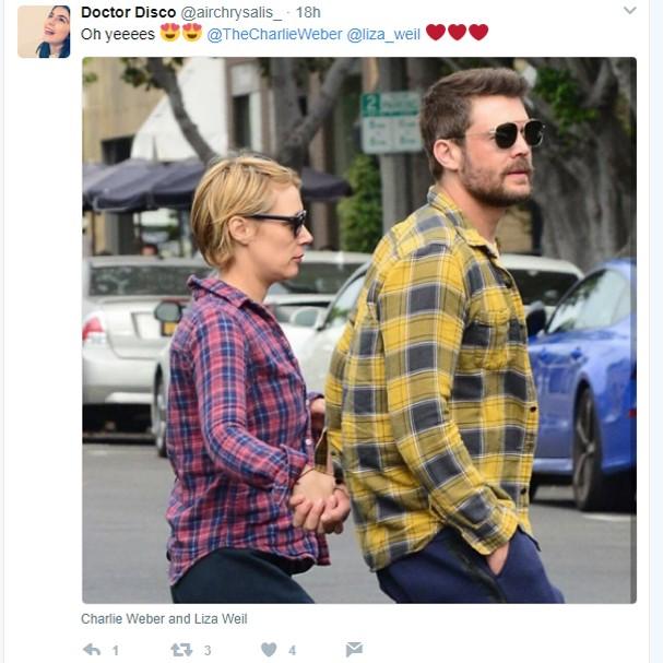Fãs compartilharam momento do casal nas redes sociais (Foto: Twitter/Reprodução)