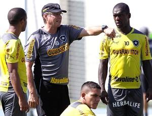 Oswaldo de Oliveira e Seedorf treino Botafogo (Foto: Cezar Loureiro / Agência O Globo)