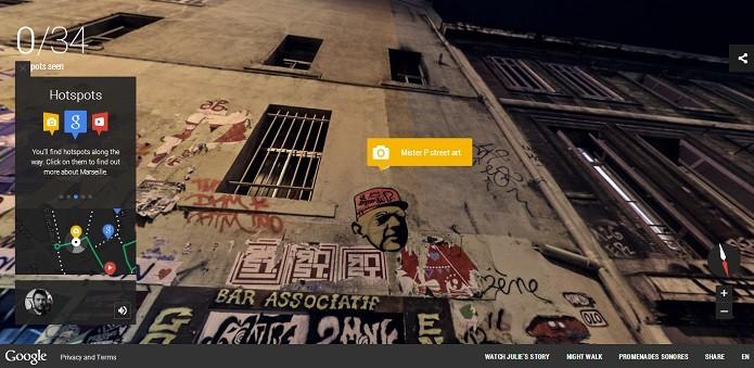 Pontos turísticos são explicados no passeio noturno (Reprodução/Google Street View)