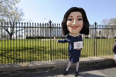Ação de publicidade de 'Veep' em Washington (Foto: Reprodução da internet)