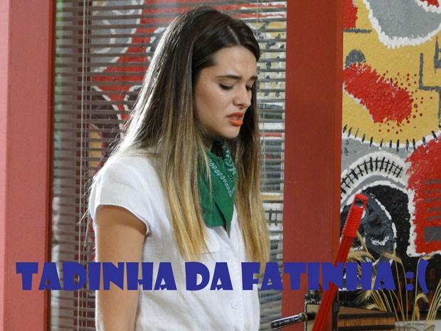 Que dó! Que dó! Fat não aguenta e cai no choro de novo. Que bad, hein! :( (Foto: Malhação / Tv Globo)