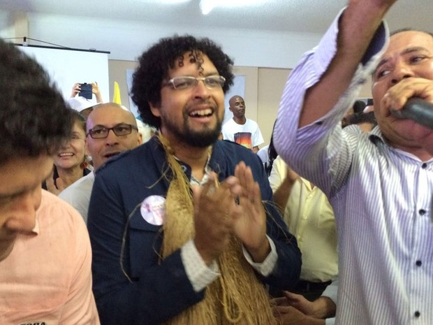 Convenção confirma sociólogo Fábio Nogueira como candidato a prefeito de Salvador (Foto: Ramon Ferraz/TV Bahia)