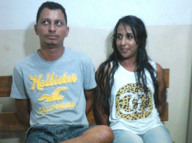 Casal foi preso horas após assalto em Araguaína (Foto: Divulgação/PM TO)