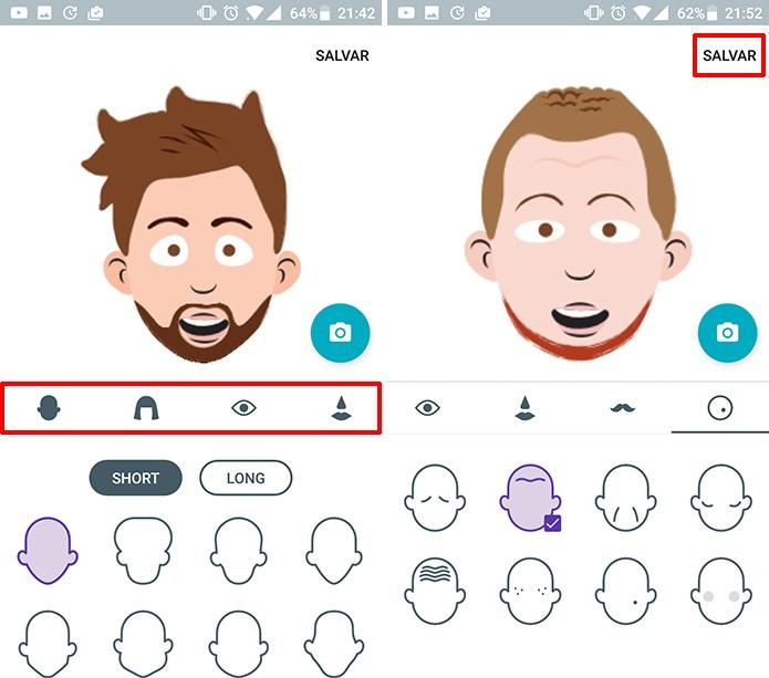Google Allo permite que o usuário o emoji criado para que este fique mais similar (Foto: Reprodução/Elson de Souza)