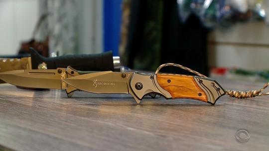 Ofensiva tenta coibir venda de facas para adolescentes em São Gabriel