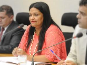 Deputada distrital Telma Rufino (PPL) (Foto: Carlos Gandra/CLDF/Divulgação)