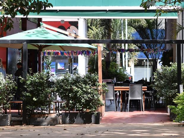 Área aberta em bloco comercial da Asa Sul, no Distrito Federal (Foto: Andre Borges/GDF)