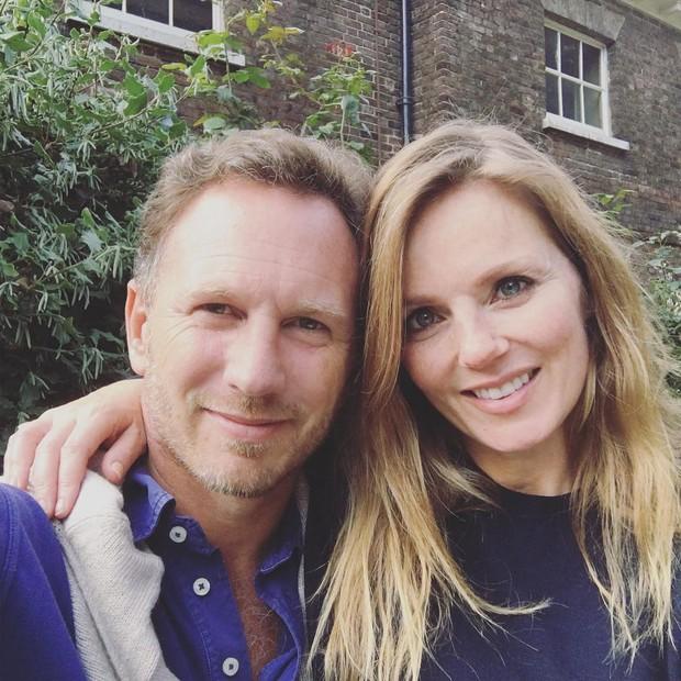 Geri Halliwell e o marido, Christian Horner (Foto: Instagram/Reprodução)