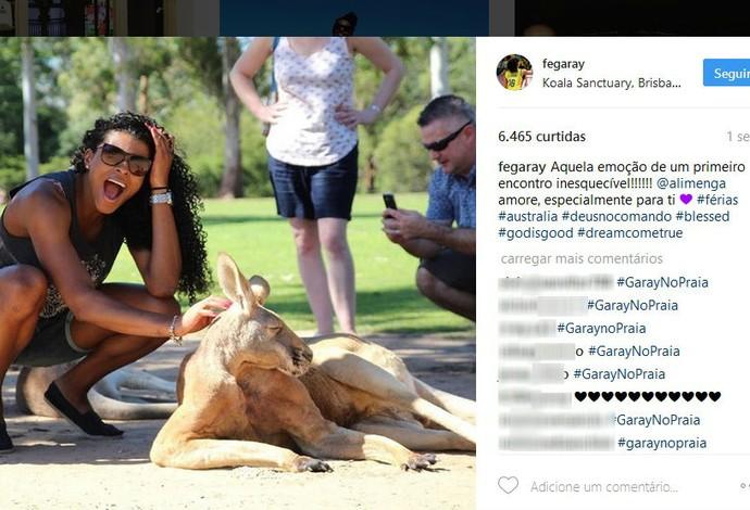 Fernanda Garay na Austrália (Foto: Reprodução/Instagram)