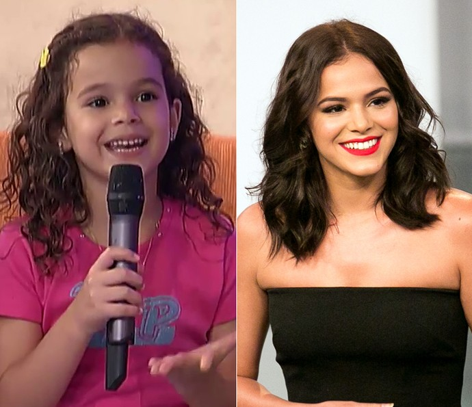 Bruna Marquezine no 'Gente Inocente' e atualmente (Foto: TV Globo e Isabella Pinheiro / Gshow)