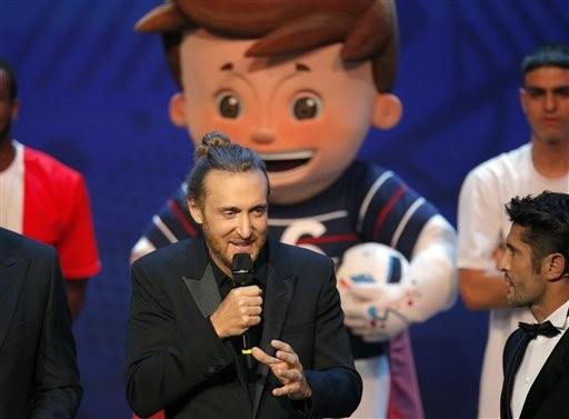 David Guetta  embaixador musical da UEFA Euro 2016 (Foto: Christophe Ena / AP)