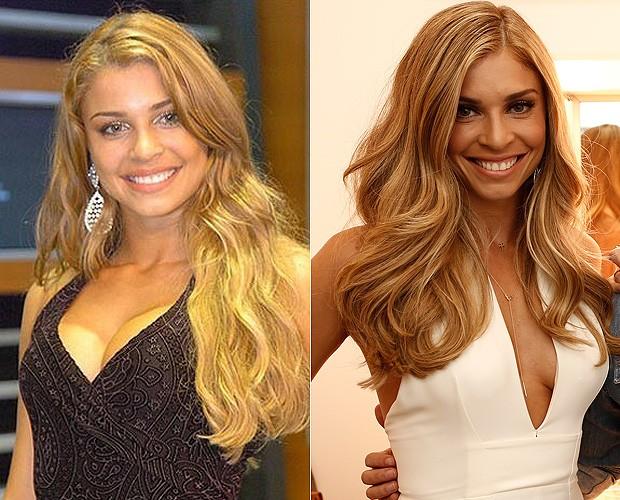 Grazi antes e depois (Foto: BBB/Gshow)