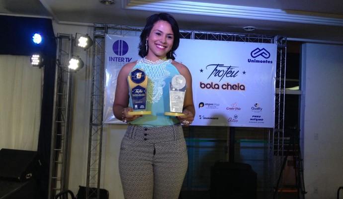 Atleta foi eleita em votação através do site GloboEsporte.com (Foto: Valdivan Veloso/GE)