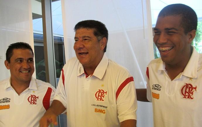 Marcelo Salles Joel Santana Mauricio Albuquerque Flamengo (Foto: Janir Junior / Globoesporte.com)