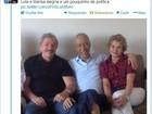 Marcelo Déda recebe a visita de Lula e Marisa em São Paulo
