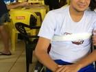 Estudante salvo em açude ficou tetraplégico e não lembra de acidente