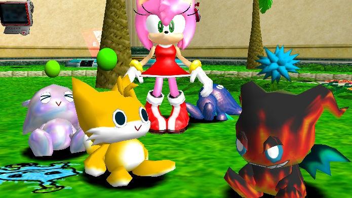Tamagotchi: Sonic entrou na onda no modo Chao Garden (Foto: Divulgação/SEGA)