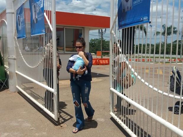 Rio Branco (AC) - Clarice Gomes, de 21 anos, teve que abandonar a prova por não pedir atendimento especial (Foto: Iryá Rodrigues/G1)
